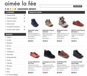 Page d'accueil chaussures enfant